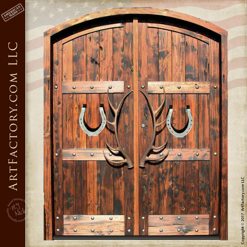 Custom Double Entry Doors Western Style - 8390RP