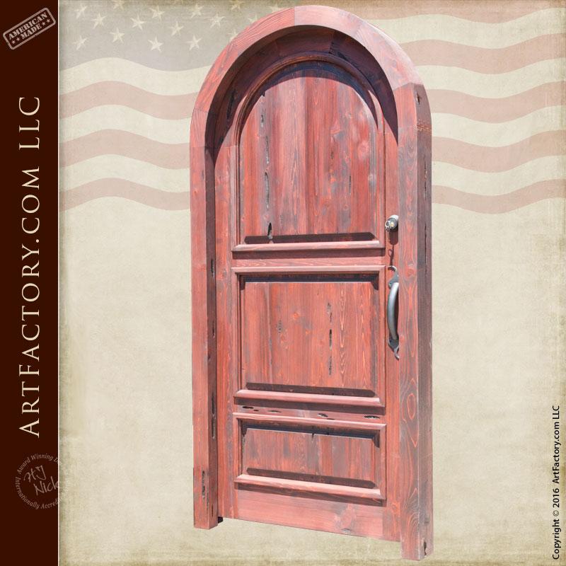 Handmade Wooden Door - Arched Three Panel Segovia - APD656