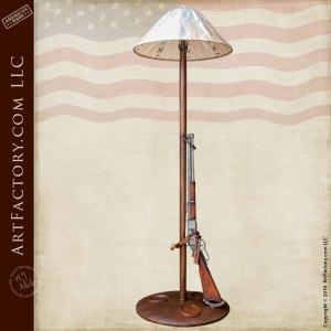 Custom Floor Lamp with 1873 Winchester Trapper Replica -FLRR22