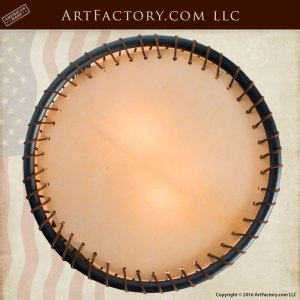 Circular Rawhide Custom Ceiling Lighting