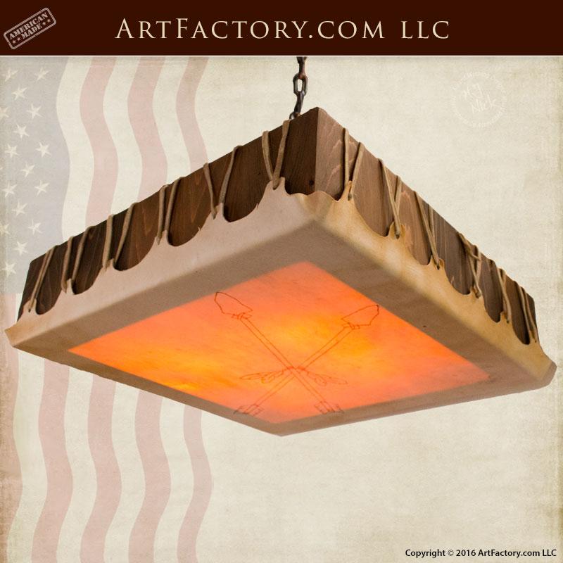 Square Drum Head Chandelier, Custom Ceiling Lighting - DHC800
