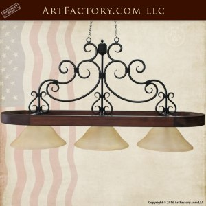 Exotic Wood Three Light Custom Pendant Lighting - ILC678