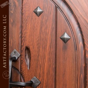 decorative arched handmade door