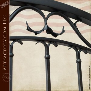 Custom Iron Harvard University inspired gate