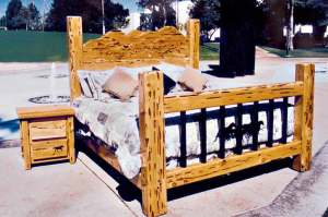 King Bed - Western Theme Bed - CBB618