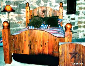 Queen Bed - Wild West Lone Star Bed  -   CBB671
