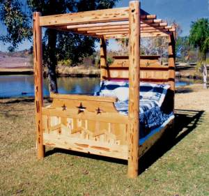 Canopy King Bed - Lodge Design Canopy - CBBS619