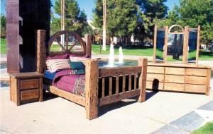 Bed - Wagon Wheel - American Allen Ranch Inspired  - CBBS620