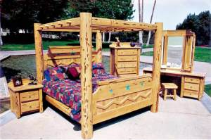 King Bed - Craftsman Style Canopy Bed - CBBS668
