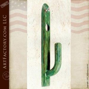 Wrought Iron Saguaro Cactus Door Pull - HH154