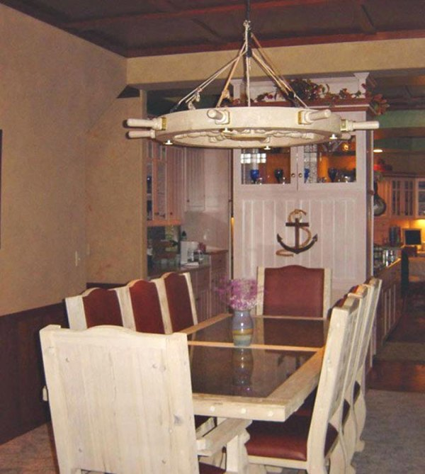 Chandelier nautical chandelier ships wheel chandelier nautical nautical chandelier edmund fitzgerald inspired lc545 mozeypictures Gallery