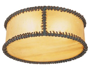 Hand Stitched Raw Hide Ceiling Mounted Hand Forged - LC538