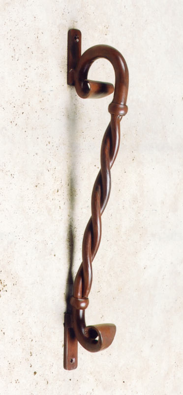 Door Pull - Hand Forged - Twisted Scroll Door Pull- HH004