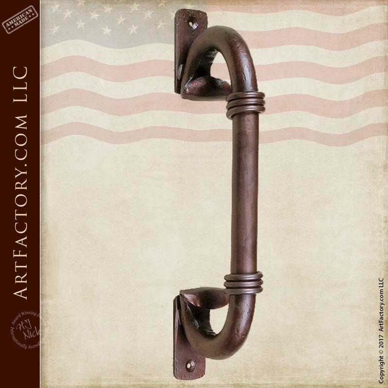 c-shaped inverted scroll door handles
