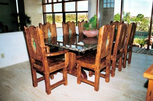 Dining Table - Granite Top Wood Dinner Table - CH2030