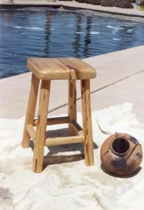 Bar Stool - Solid Wood Bar Stool- SWS170B