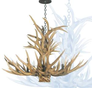 Antler Chandelier with Down Light -   LA212