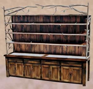 Furniture Buffet - Wood Cabinet Display Shelves  - MLH586