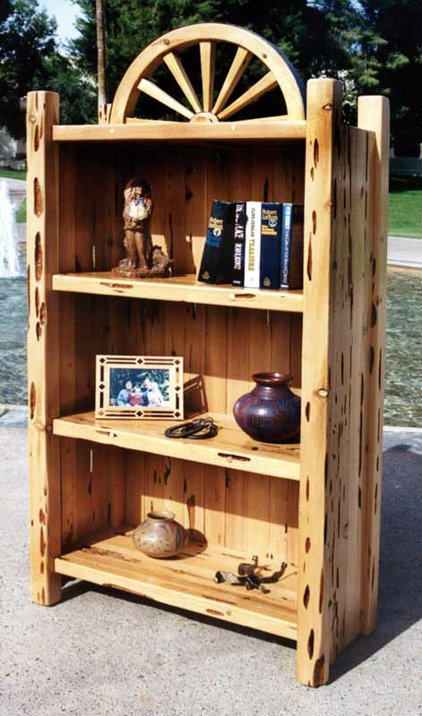 Custom Made Bookcases - Rustic Design Bookshelves - CBS611A