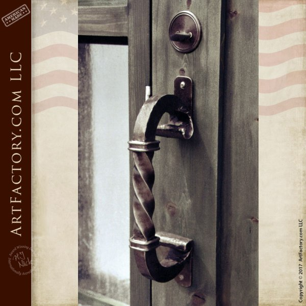 Wrought Iron Spiral Door Pull Design - HH013