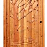 Hand Carved Door - Hawk In Autumn Wood Design - 4820HC