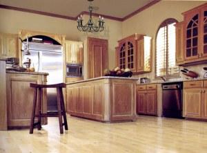 Custom Kitchen Cabinets Granite Counter Tops Chandelier KIT450