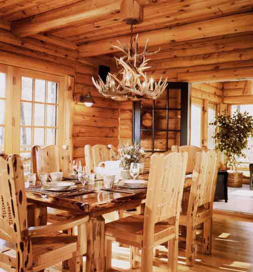 Log Dining Room Table: Formal Dining Table