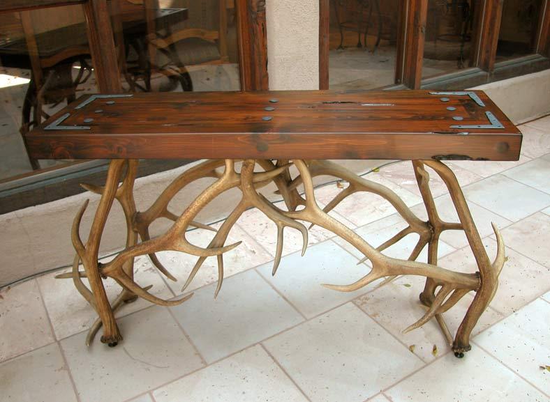 Merveilleux ... Antler Hall Table   Natural Elk Antler Sofa Table   MLT535