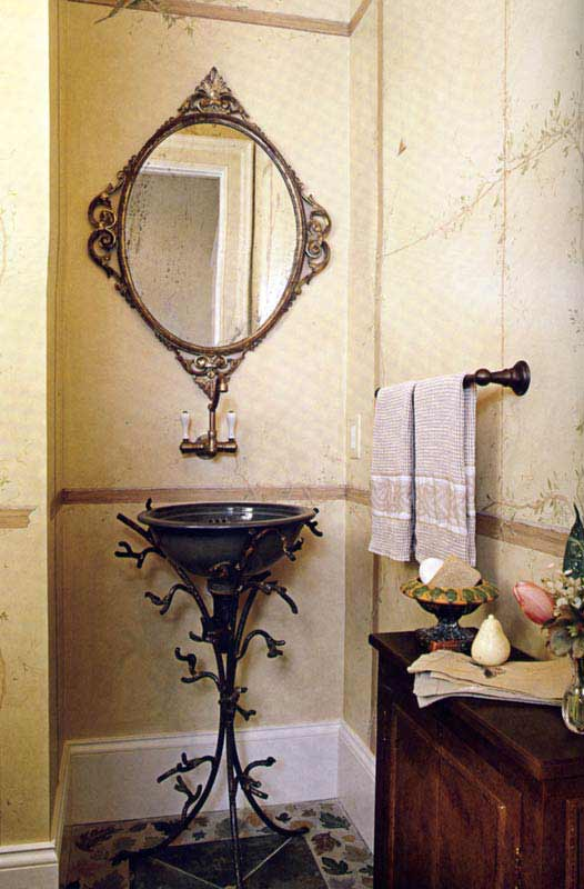 Bathroom - Hand Forged Wrought Iron - Exotic Woods- BATH009