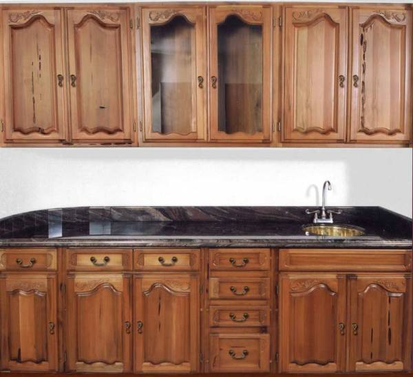 Hand Carved Kitchen Cabinet Wet Bar KIT964 - ArtFactory.com