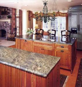 Ultimate Cottage Kitchen Cabinets And Chandelier  KIT992