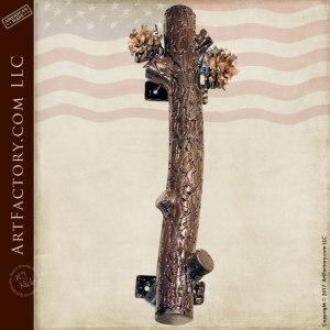 custom pine branch door pull