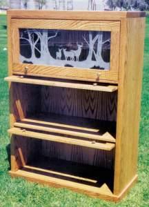 Lawyers Bookshelves - Custom Wood Bookcases -  CTBS263