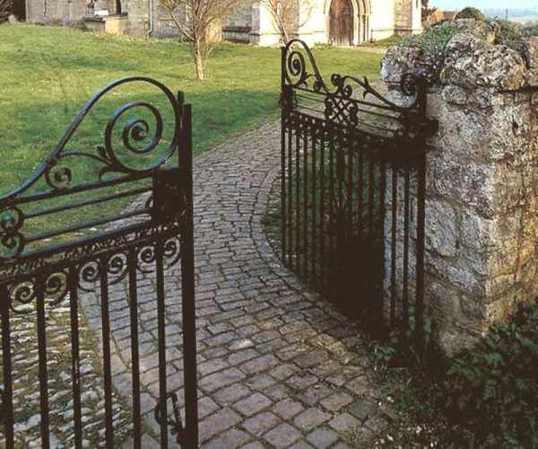 custom hand forged iron gate