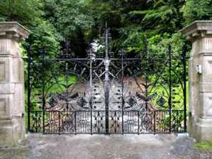 Wrought Iron Custom Entrance Gate Searles Inspired 1278IGT