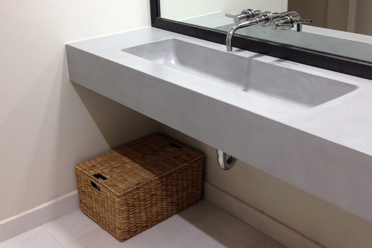 concrete sink stylish and practical