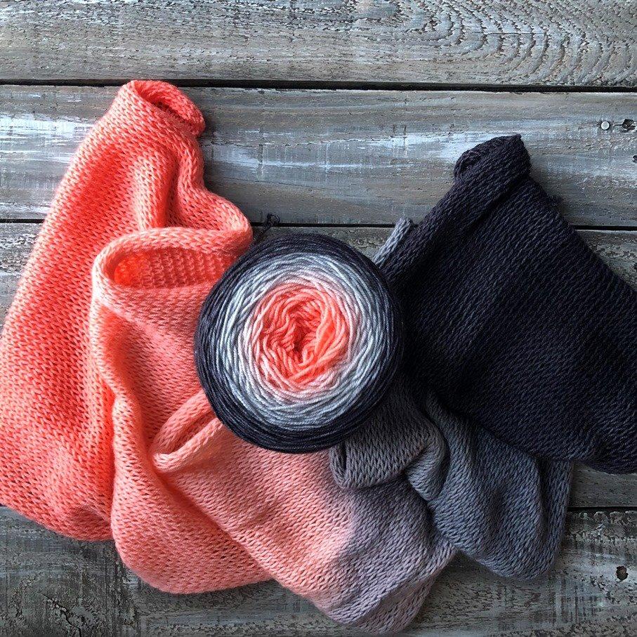 Ombré – 100% Mérino -Peach Immersion