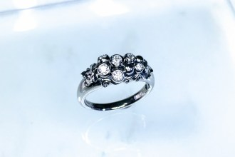 Grape engagement ring