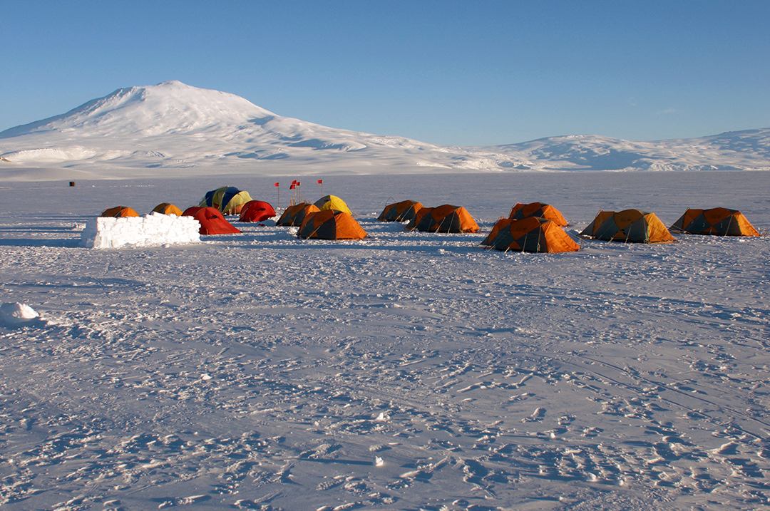 Ice camping training