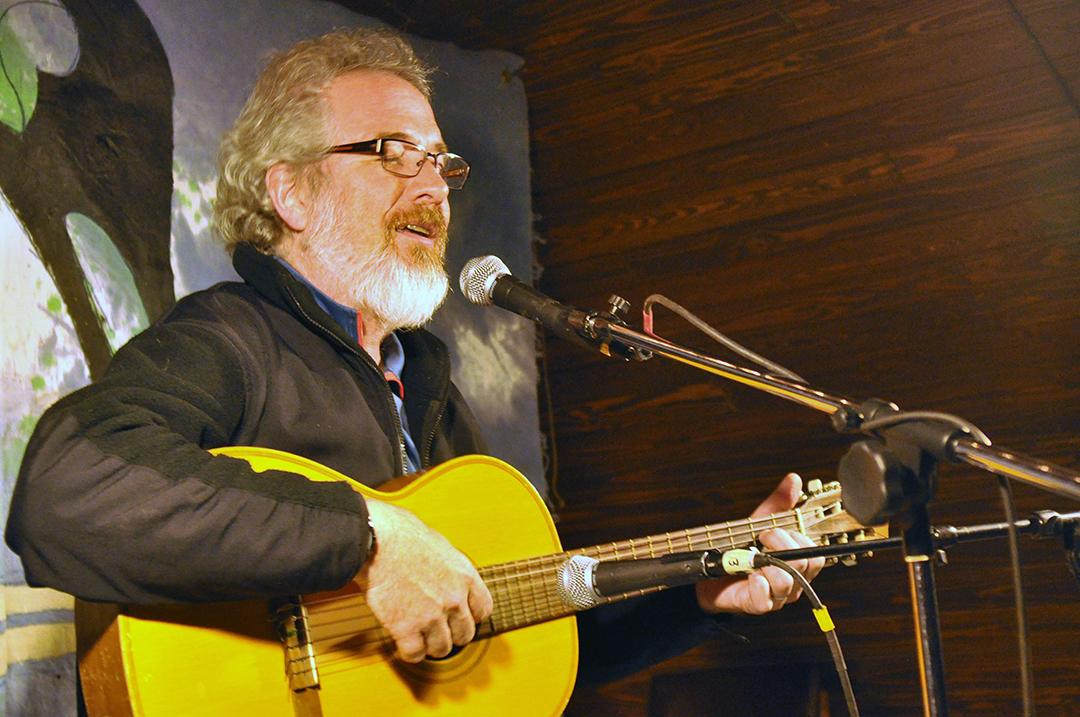 Glenn singing at McMurdo Station