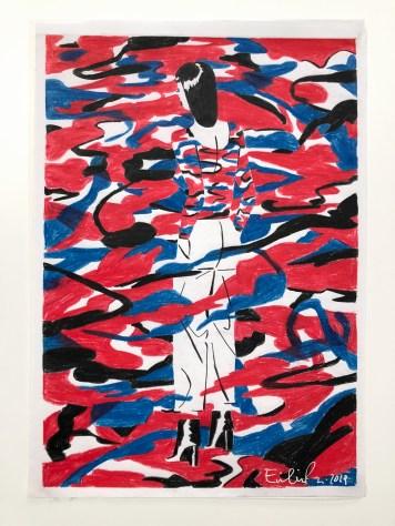 Illustrazioni Seriali_AAF, Emiliano Ponzi,It's not good enough n#9, 2018, Acrilico su carta Bleedproof Winsor and Newton, 42x29,7 cm