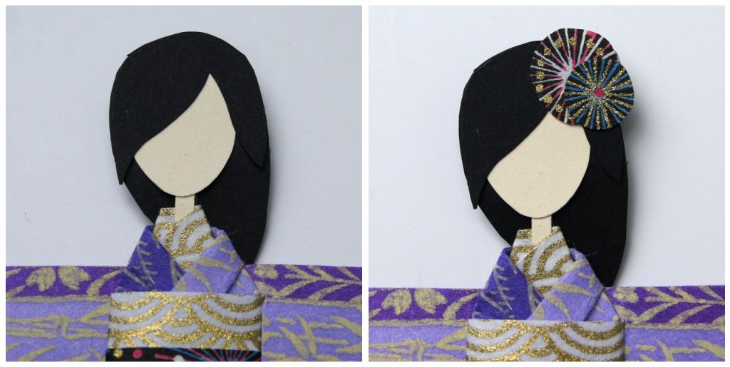 Membuat Shiori Ningnyo Sebuah Boneka Kertas Pembatas Buku