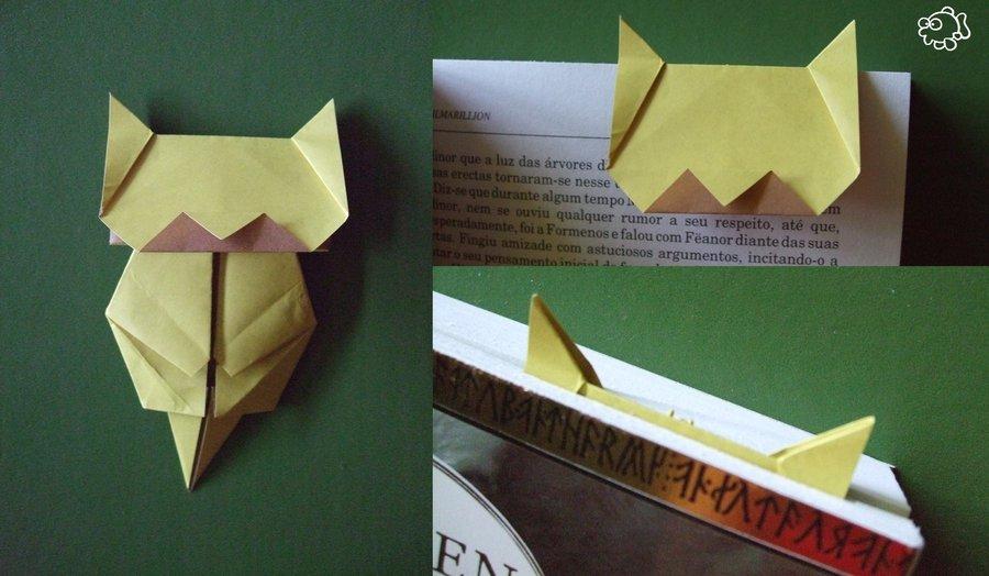 Membuat Pembatas Buku Origami Berbentuk Neko