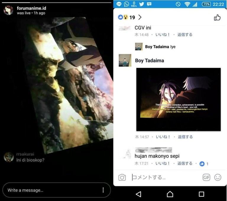 CGV Sangat Kecewa Dengan Tindakan Penonton Yang Merekam No Game No Life