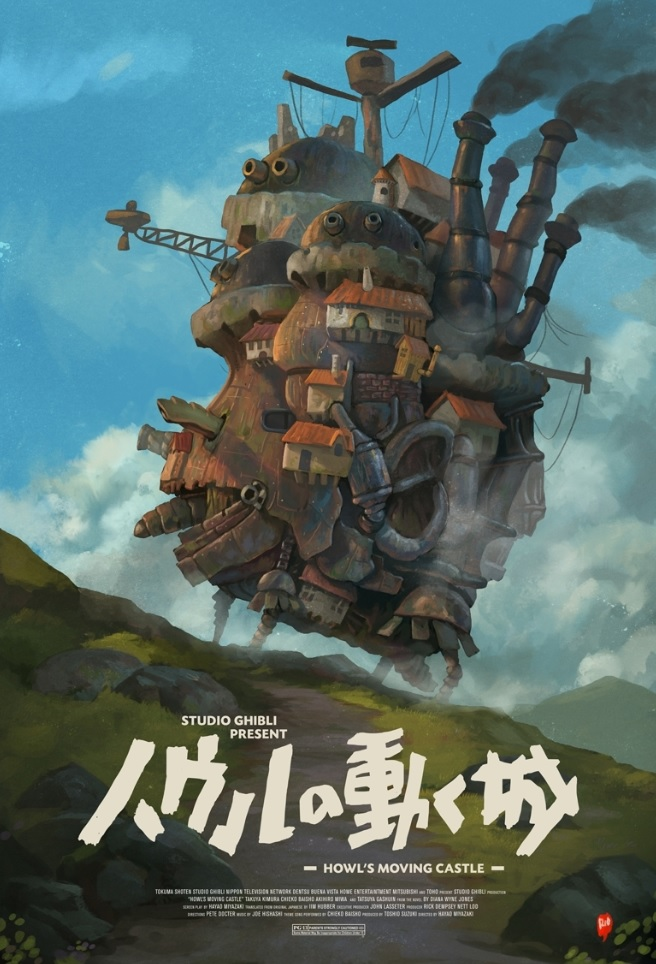 Fan Art Howl Moving Castle Dari Studio Ghibli Oleh Seniman Indonesia