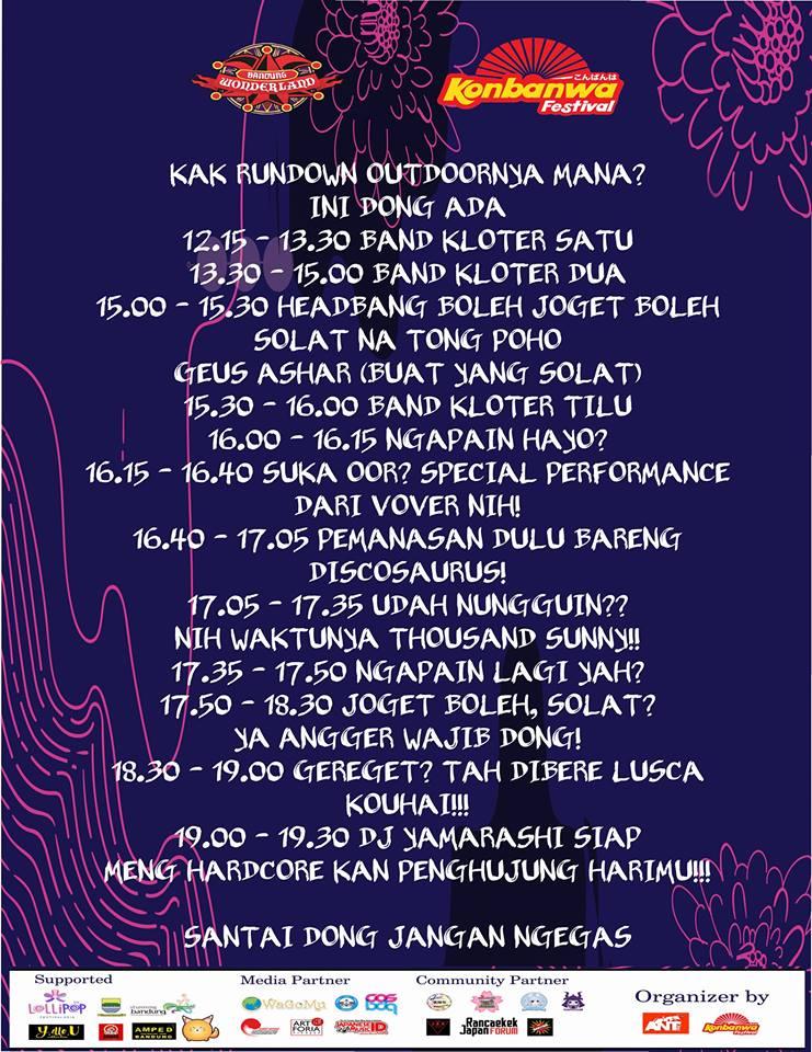 Rundown Bandung Wonderland 2018