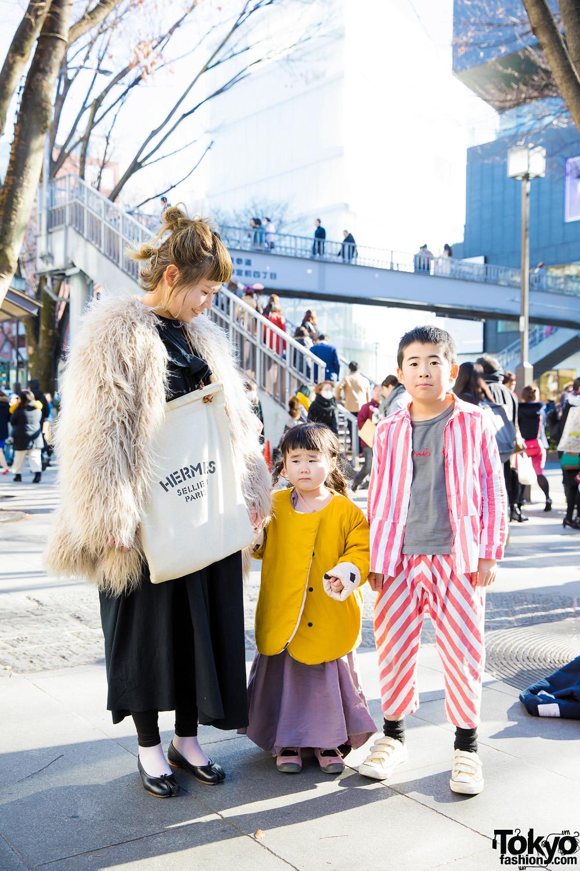 Megumi Bersama Keluarga Kecilnya Tampil Eksentrik Dalam Harajuku Fashion Jepang