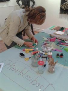 Hierbleibsel-Tisch Flensburger Ateliertage