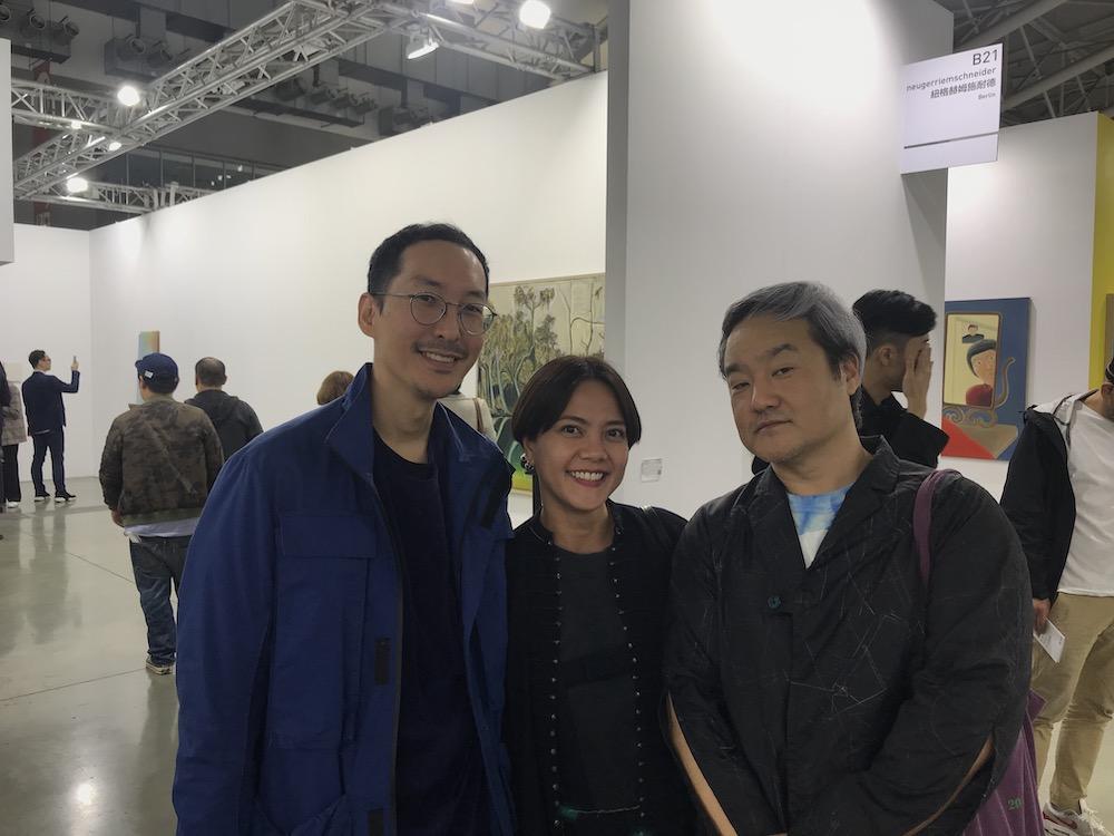 """Bangkok CityCity's AkapolOpSudasna, Supamas """"Louktan"""" Phahulo, and Commonwealth and Council's founder and partner Young Chung."""