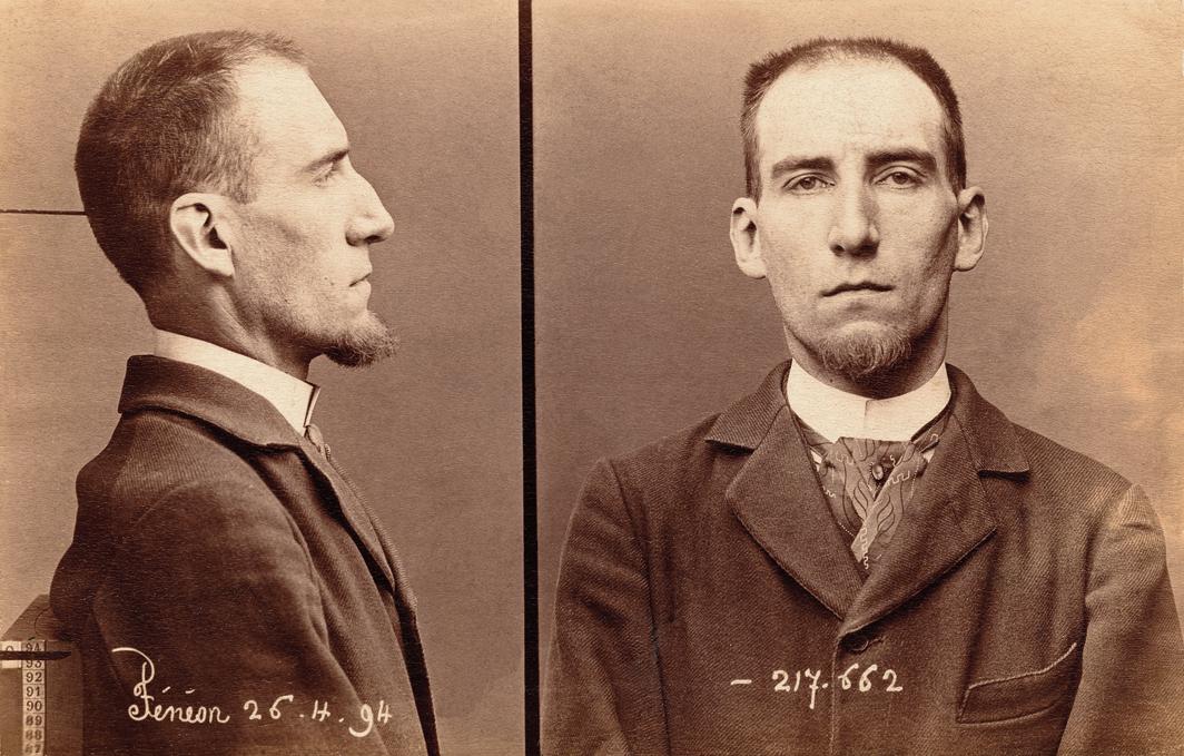 Mug shots of Félix Fénéon, April 26, 1894. Photos: Alphonse Bertillon.
